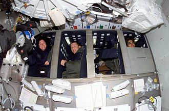 STS-107 - Image: STS 107 sleeping crew