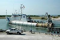 Ракетни мотор на чврсто гориво довучен на копно ради рехабилитације