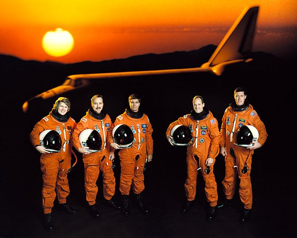 NASA STS-43 crew photoSource: Wikipedia 600px-STS-43_Official_crew_portrait.jpg