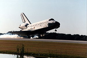 STS-81 - Space shuttle Atlantis touches down at the KSC to conclude the STS-81 mission.