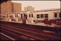 SUBWAY TRAINS, LIKE THIS ONE, HAVE BEEN SPRAY-PAINTED BY VANDALS - NARA - 548266.tif