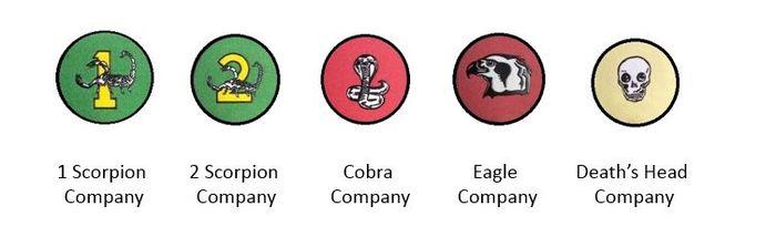 SWATF 101 Battalion company emblems