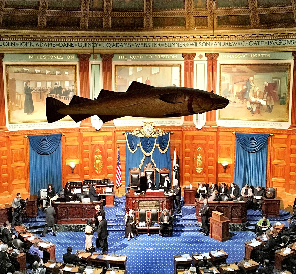 Sacred cod wikipedia for Boston fish house