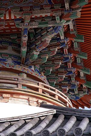 Tahōtō - Four-stepped brackets at Sagami-ji, Hyōgo Prefecture