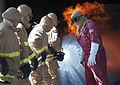 Sailors conduct firefighting training. (9718801246).jpg