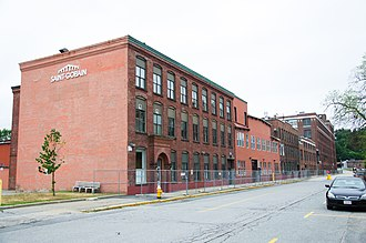 Norton Abrasives - Part of the Saint-Gobain complex on the former Norton Company site in Worcester, Massachusetts