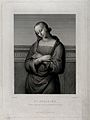 Saint Apollonia. Engraving by J. Bein after Raphael. Wellcome V0031630.jpg
