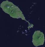 תצלום לווין של סנט קיטס ונוויס