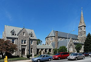 St. Mary's Cathedral and Rectory (Fall River, Massachusetts) - Image: Saint Mary Fall river