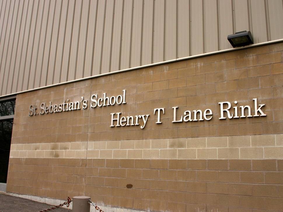 The Henry T. Lane ice rink at Saint Sebastian's School.