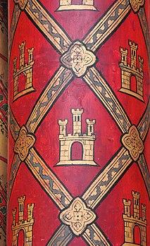 Détail d'une colonne de la Sainte-Chapelle. (définition réelle 2614×4278)