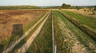Belarus–Lithuania border - Belarus–Lithuania border near Sakalinė