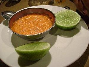 Salsa de ají y limón