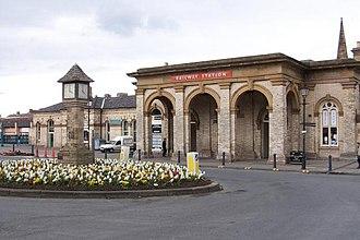 William Peachey - Saltburn railway station 1863