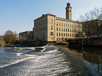 Northern England - Salts Mill in Saltaire, West Yorkshire, one of two industrial World Heritage Sites in the North