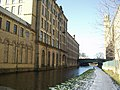 Salts Mill from the Leeds and Liverpool Canal - geograph.org.uk - 133284.jpg