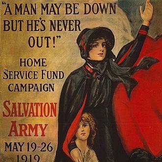 Salvation Army bonnet - World War I poster showing the design of the Salvation Army bonnet