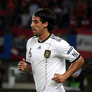 Sami Khedira - Khedira playing for the Germany national football team in 2011