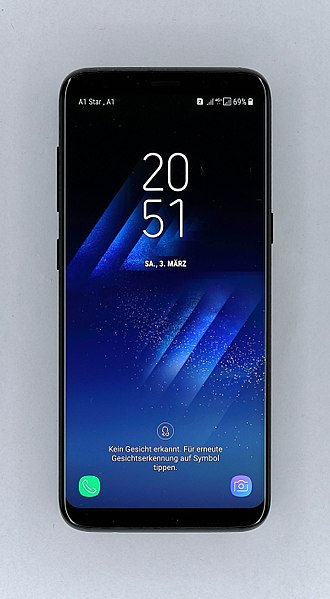 File:Samsung Galaxy S8 Duos, Anmeldebildschirm.JPG