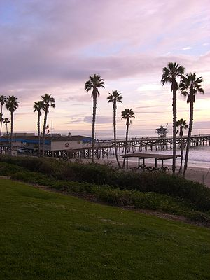 San Clemente, California - The pier in San Clemente at the end of Avenida Del Mar, part of the original village created by Ole Hanson