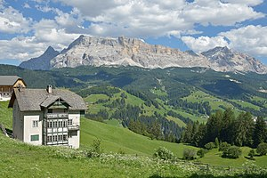Badia, South Tyrol - View to Sas dla Crusc massif