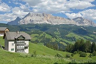 Badia, South Tyrol - View to Sas dla Crusc massif