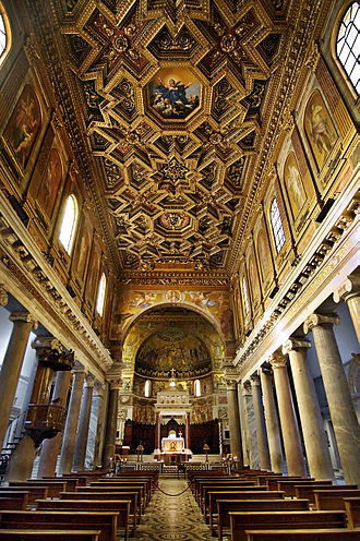Santa Maria in Trastevere -  Santa Maria in Trastevere, with the Domenichino's works