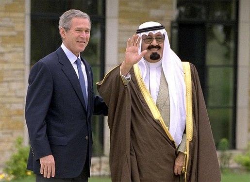 Saudi Crown Prince Abdullah and George W. Bush