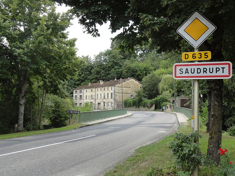 Saudrupt (Meuse) city limit sign