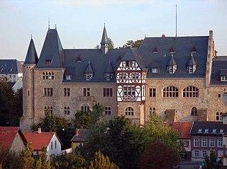 Alzey Place in Rhineland-Palatinate, Germany