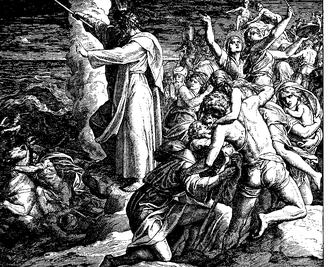 Song of the Sea - Miriam's Song, by Julius Schnorr von Carolsfeld (1860).