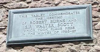 Sciennes - Sciennes Hill House plaque