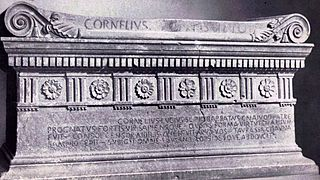 Lucius Cornelius Scipio Barbatus Roman consul in 298 BCE