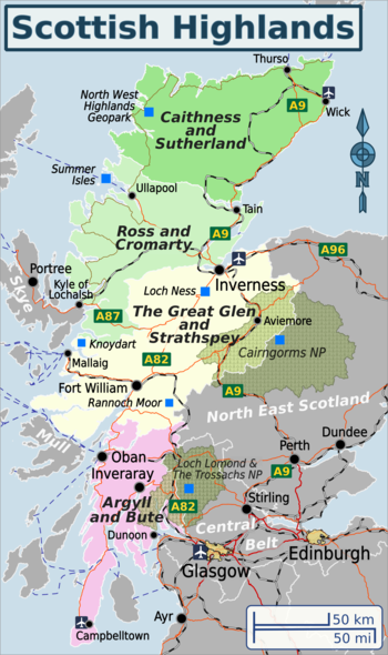 Map Of Scottish Highlands Scottish Highlands – Travel guide at Wikivoyage
