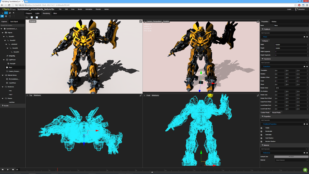 Clario.io Online 3D Modeling and 3D Rendering