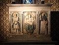 Scuola di donatello, ancona con madonna col bambino tra i ss. girolamo e domenico, xv secolo, 03.jpg