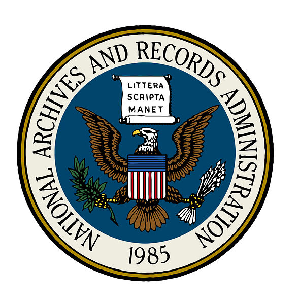 File:Seal of the National Archives and Records Administration (color with partial blue background).jpg