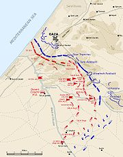 Second Battle of Gaza map