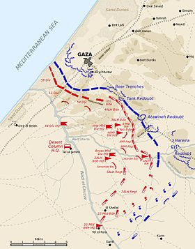 Seconde bataille de Gaza, 19 avril 1917