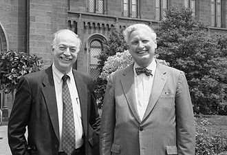 Ira Michael Heyman - Secretary Adams with Secretary-Elect Ira Michael Heyman, 1994