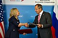 Secretary Clinton and Russia's Foreign Minister Lavrov at Signing Ceremony (7952061352).jpg