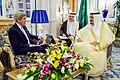 Secretary John Kerry Sits With King Salman of Saudi Arabia at the Royal Court in Jeddah (26752708710).jpg