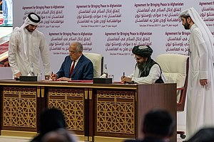 Secretary Pompeo Participates in a Signing Ceremony in Doha (49601220548).jpg