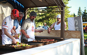 Serbian Canadians - Serbian barbecue, Edmonton Heritage Festival 2012