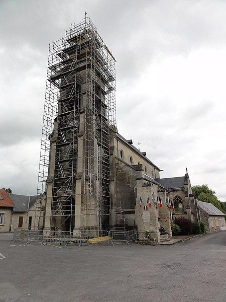 Sermoise (Aisne) église Saint Crépin-Saint Crépinien en restauration, juin 2015
