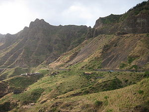Santiago, Cape Verde - The Serra Malagueta mountain range in the northern part of the island of Santiago, Cape Verde