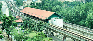 Setiawangsa LRT station - A bird's eye view of Setiawangsa station.