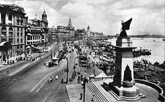 Shanghai International Settlement - The Bund, 1928.