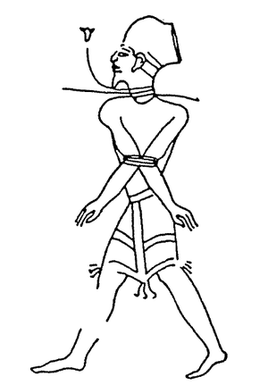 Shasu - Shasu prisoner as depicted in Ramesses III's reliefs at Madinat Habu