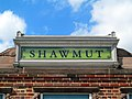 Shawmut station sign atop headhouse, August 2016.JPG